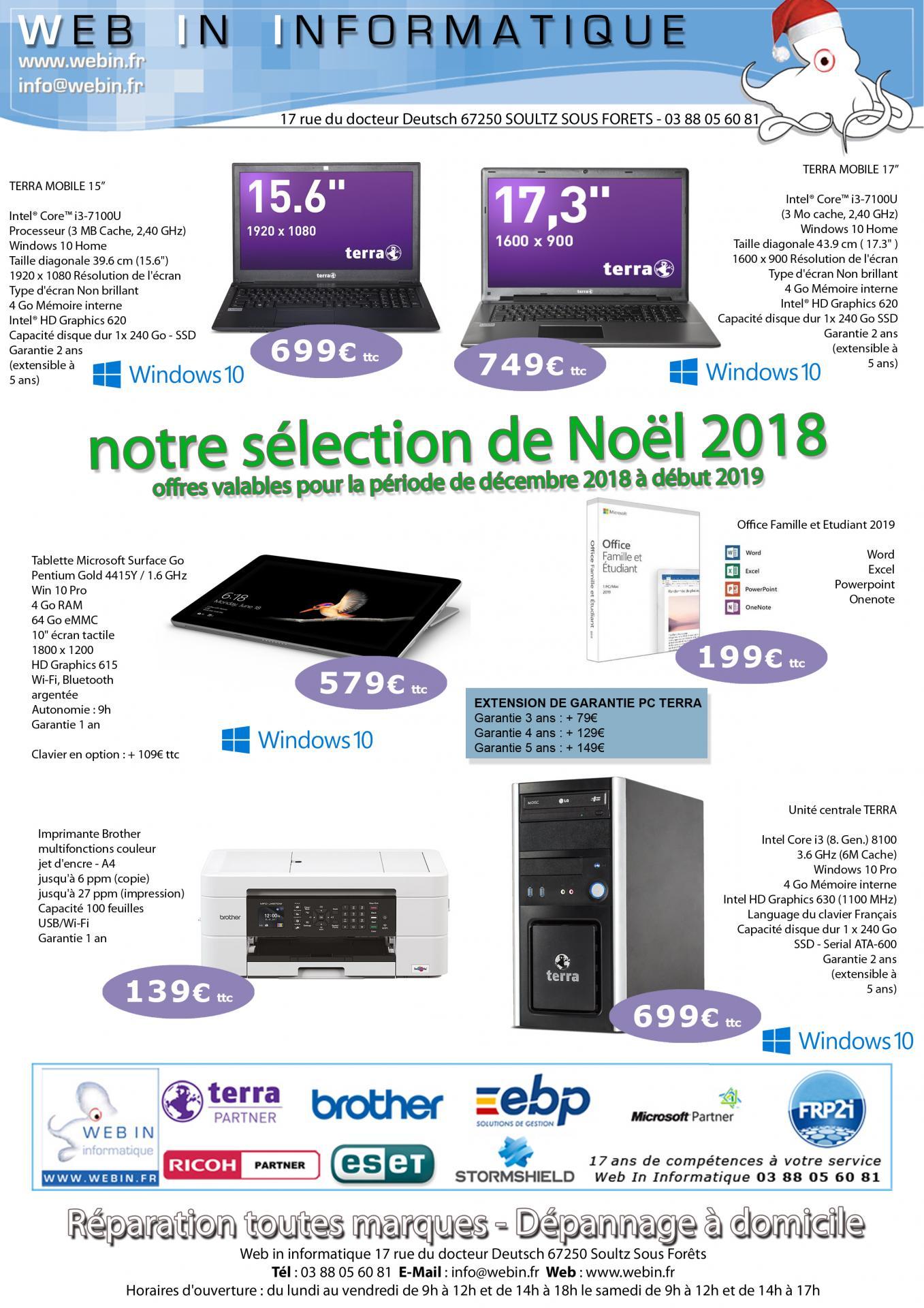 Offres webin noel 2018