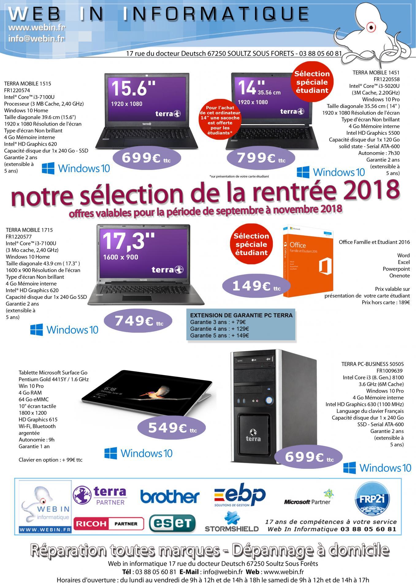 Offres webin rentree 2018