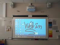 Installation d'un vidéoprojecteur interactif